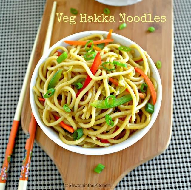 hakka noodles - vegetable hakka noodles