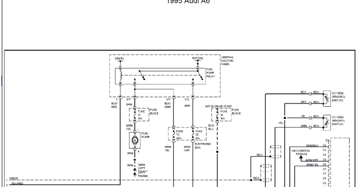 1996 Audi A6 Engine Performance Circuits Wiring Diagrams Part 2