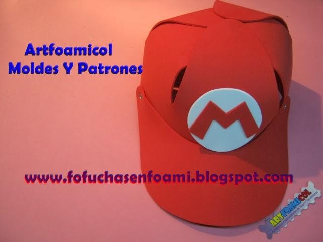 Mis Fofuchas 2013 Artfoamicol: MOLDES PARA GORRAS EN FOAMY DE ...