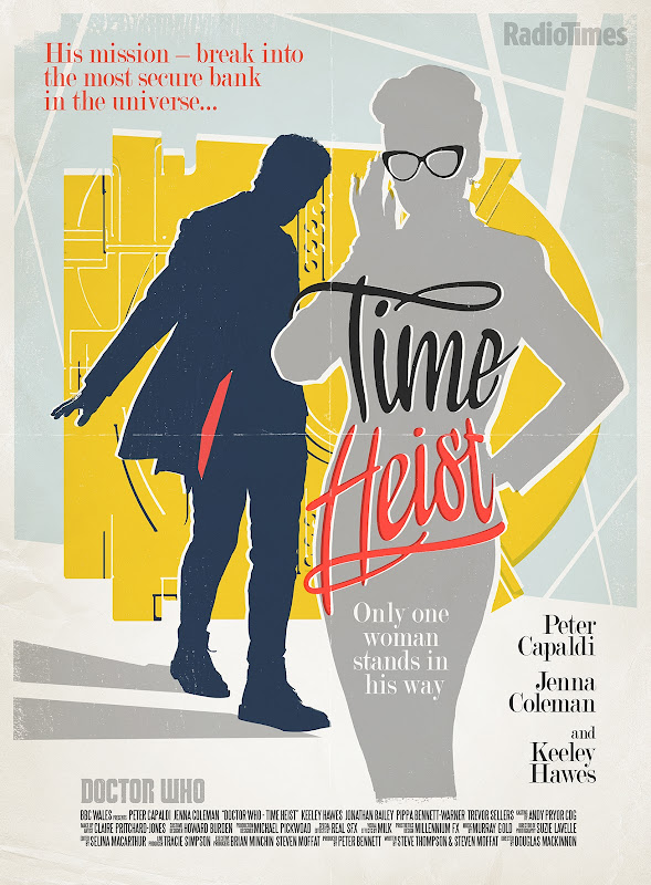 Doctor Who Time Heist retro TV poster