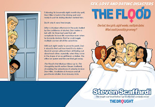 Sex Love and Dating Disasters, The Flood, Steven Scaffardi, Lad Lit, Chick Lit, Dick Lit, Fratire, Funny Book, Comedy Book, Comedy Novel, Funny Novel, Books about dating, books about dating disasters, Book blurb, book cover,