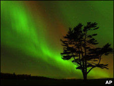 aurora boreal producto de tormenta geomagnética