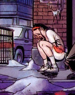 Moldovan girl Viorica forced into sex slavery in Garth Ennis's Punisher: The Slavers