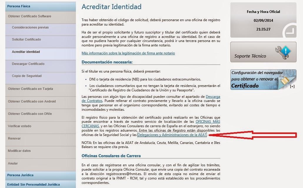 Afectados por fogasa certificado digital paso a paso for Oficinas certificado digital