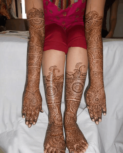 Mehndi For Hands And Legs : Mehndi designs for girls latest indian bridal