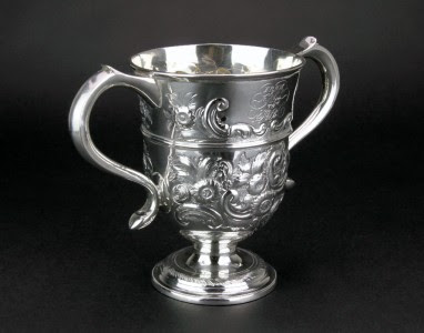 ANTIQUE 18thC GEORGIAN SOLID SILVER TROPHY CUP, THOMAS LAW, SHEFFIELD c.1794