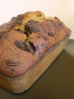 Light Chocolate chip applesauce loaf bread