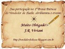 Gentilmente enviado pelo poeta e amigo J.R Viviani