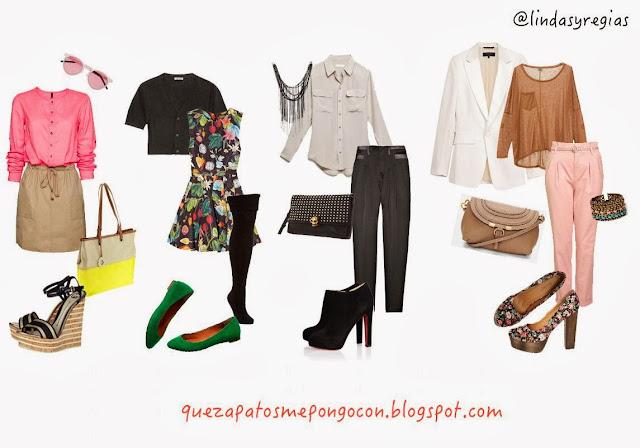 queropamepongopara.blogspot.com Cuatro combinaciones perfectas para que te pongas tus zapatos con falda, vestido y pantalón y  sus respectivos accesorios
