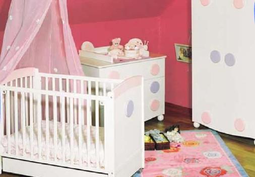 Dormitorio para bebes en rosado dormitorio infantil for Dormitorios bebe nina