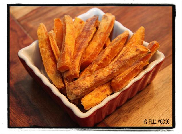 Frites de patates douces cuites au four full vedge - Frites pour friteuse au four ...