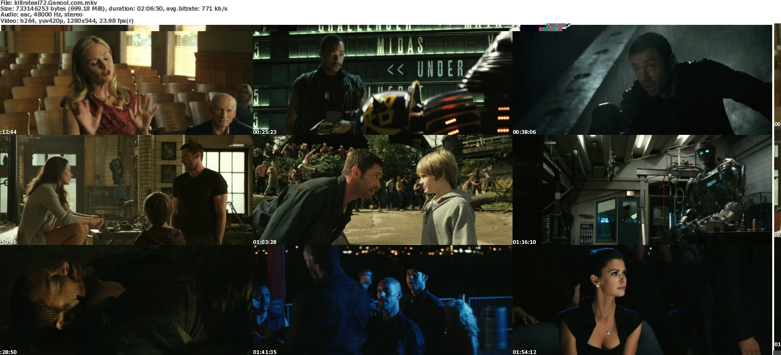Free Movies Real Steel 2011 Bluray 720p 700mb