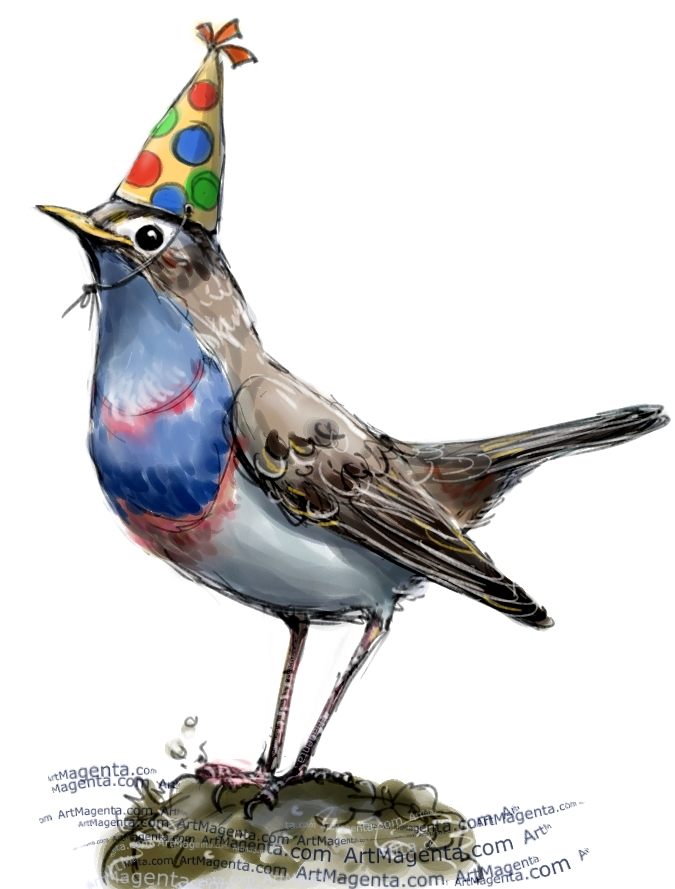 A Party Bluethroat by Artmagenta