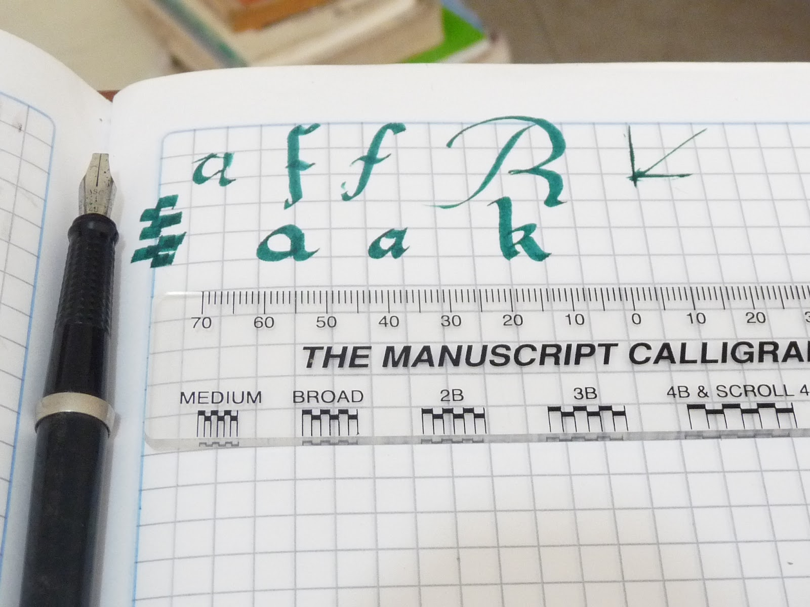 caligrafia, arte y diseño: Papel cuadriculado y de doble línea