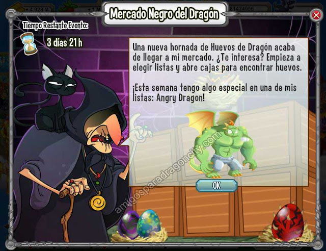 dragon angry en el mercado negro del dragon