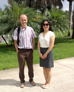 Marco Brambilla visiting Shihong Huang at Florida Atlantic University, Boca Raton, FL.