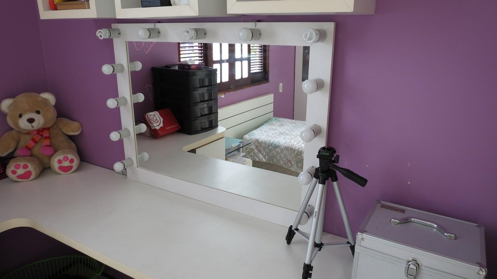 Super Vaidosas : Faça você mesma: Espelho tipo camarim! #603C41 1600x899