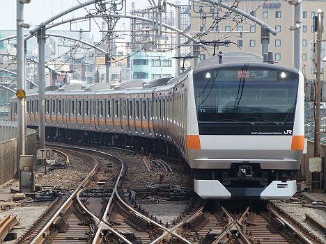 中央線 快速 三鷹行き E233系(中央線武蔵小金井駅工事に伴う運行)