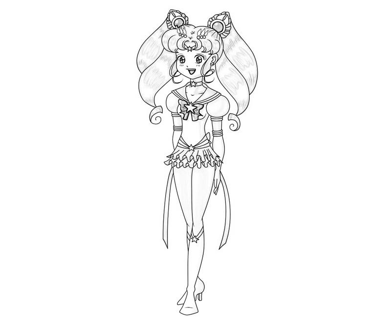 Printable Sailor Chibi Moon Cute Coloring Pages 3 title=