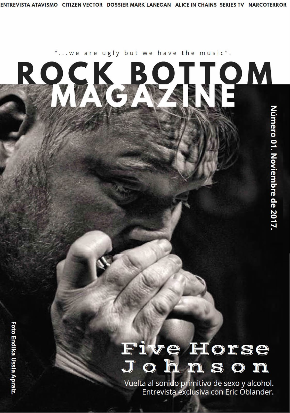 Revista digital gratuita. Rock Bottom Magazine.