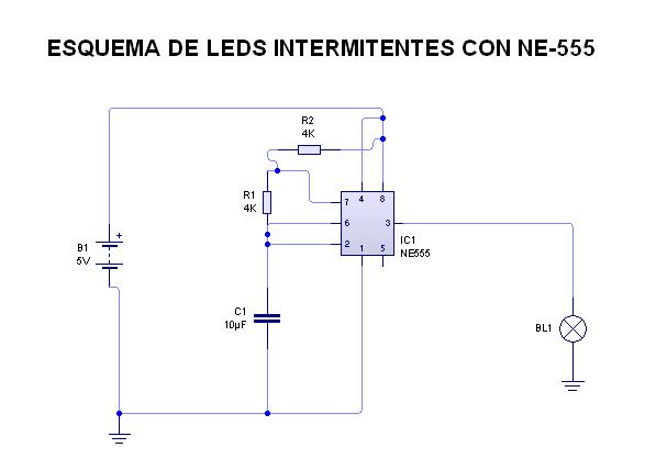 Esquema de Leds Intermitentes