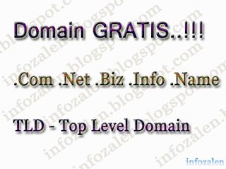 Domain Gratis .Com Terbaru 2013