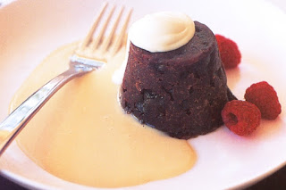 Boozy puddings with cheat's custard Recipe