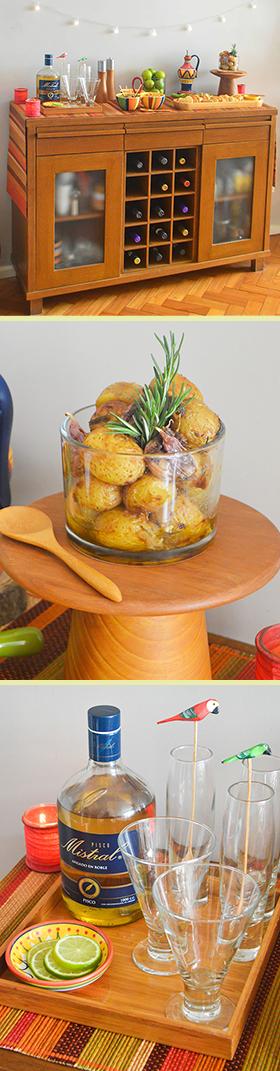 Um brunch com Pisco Sour + petiscos e sanduíches vegetarianos