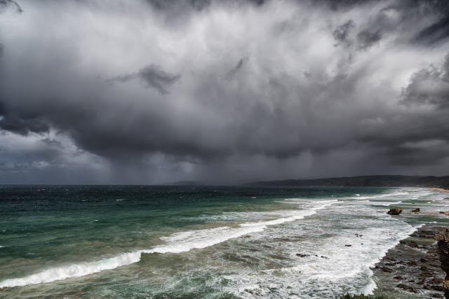 storm over fairhaven beach victoria