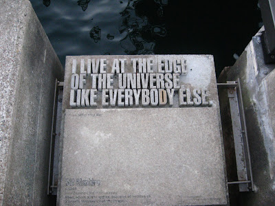 """""""I live at the edge of the Universe like everybody else"""", Bill Manhire"""