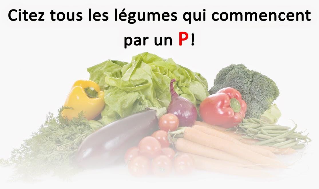 Mini Jeu : Les légumes commençant par un P ! | A vos claviers ! et donnez le maximum !