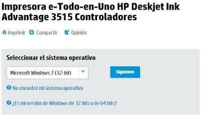 page to download drivers HP DeskJet Ink Advantage 3515