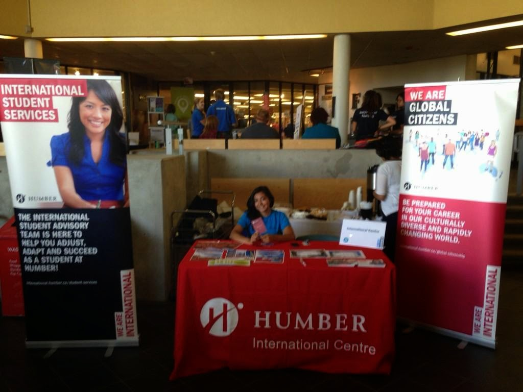 International Booth at Humber Concourse