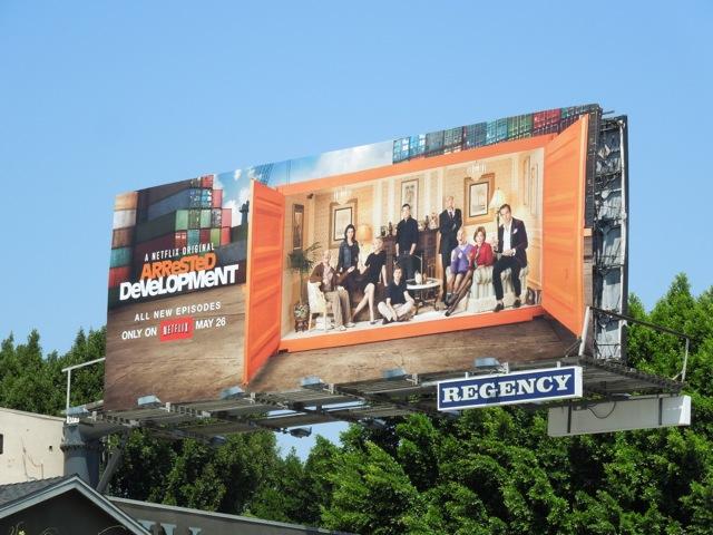 Arrested Development 4 netflix billboard