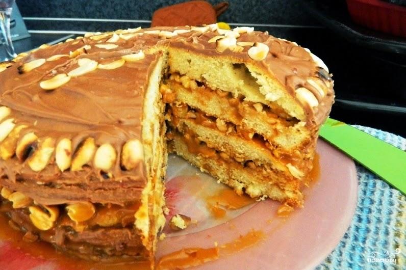 Сникерс торт в домашних условиях 264