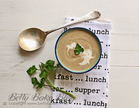 mushroom soup, betty bake, supper ideas, recipe, bowl of soup, yum, porcini, dried mushrooms