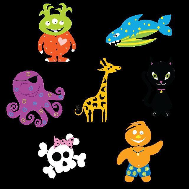 Eileen Gano Critter Designs Skull, Octopus, Giraffe, Whale, Aliens, Cat