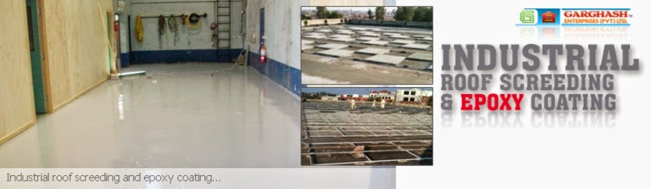 industrial epoxy roof screeding