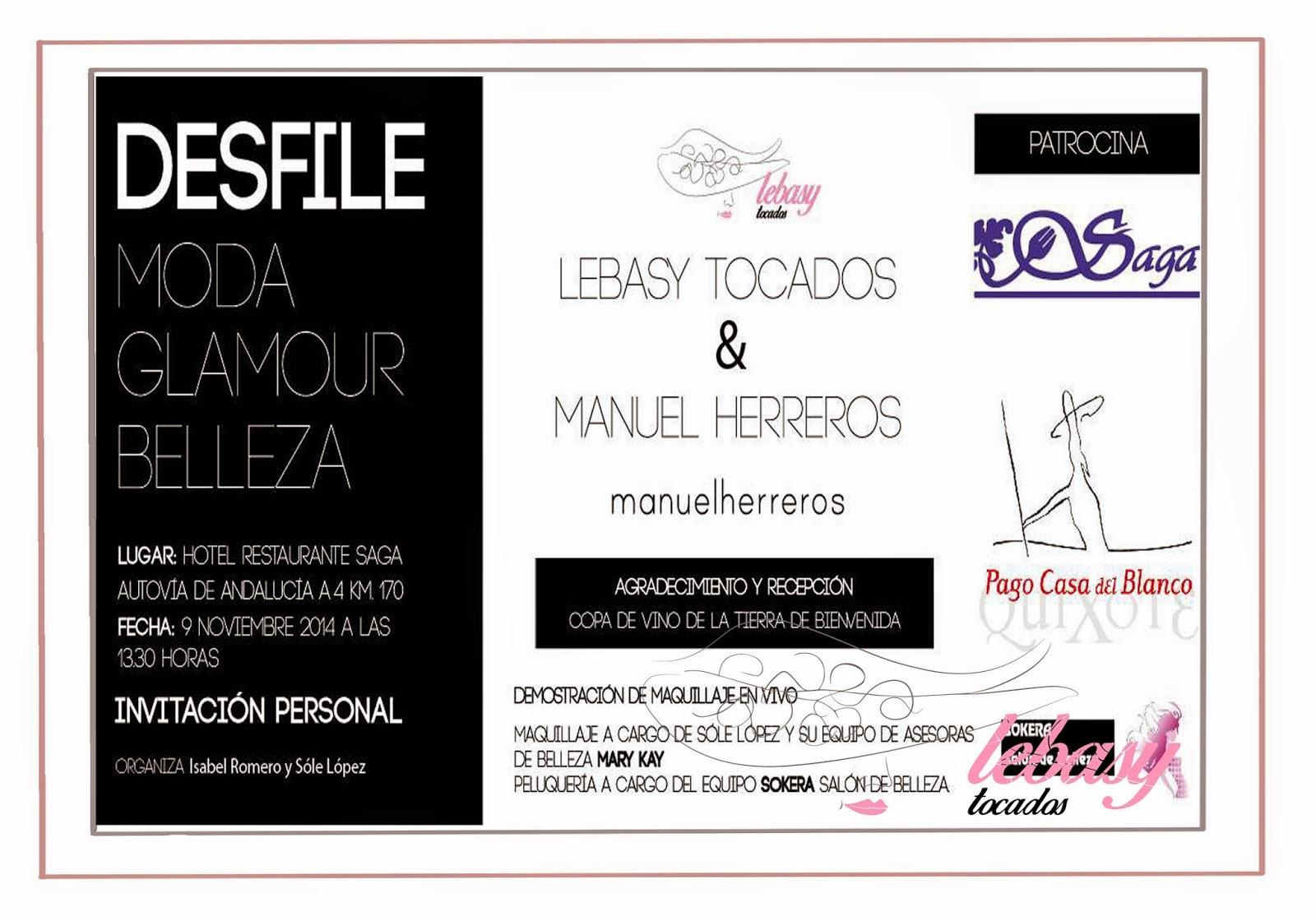 Invitación Desfile Lebasy Tocados y Manuel Herreros