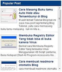 Cara Membuat Scroll Pada Popular Post