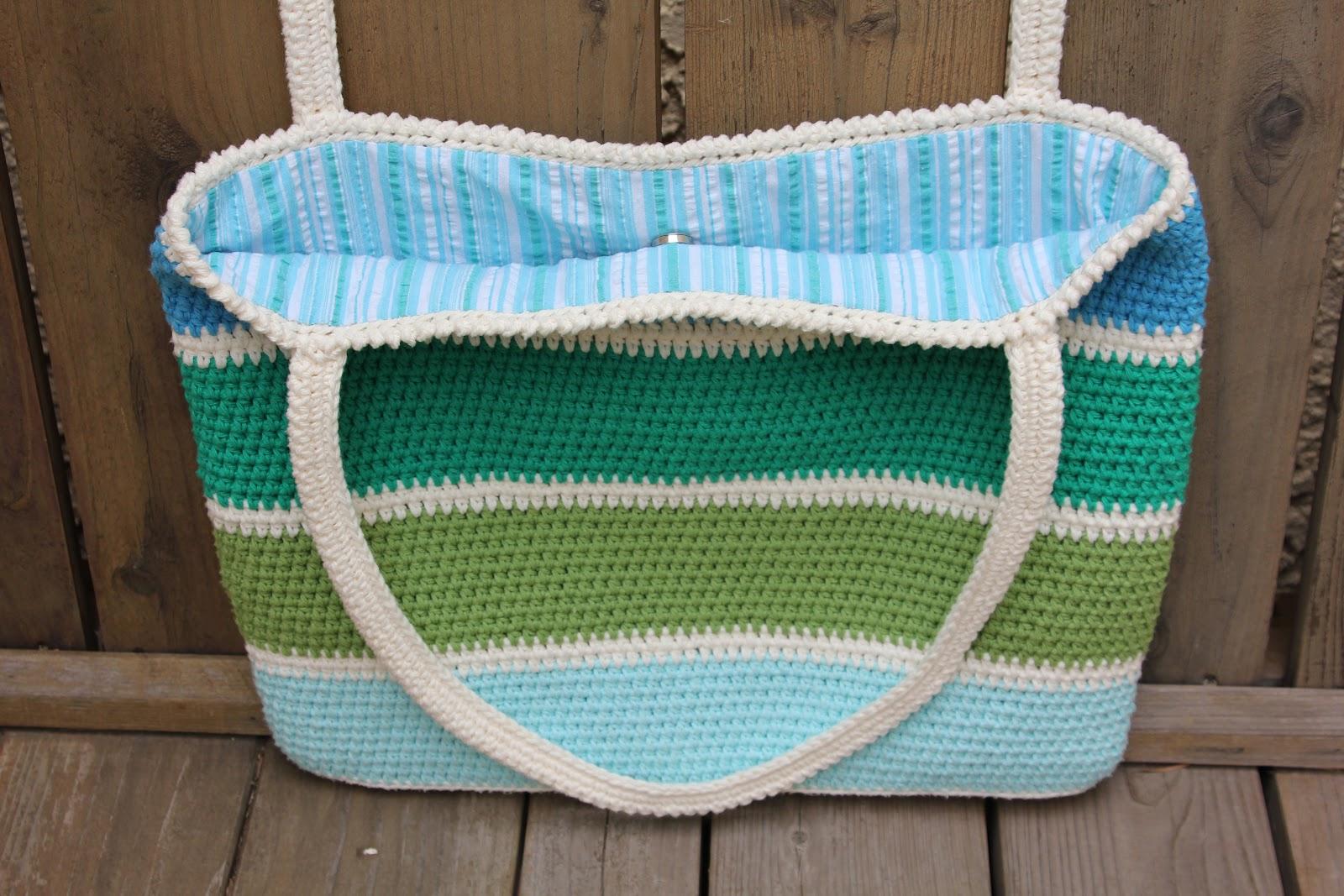 handmade&homemade: Striped Summer Tote