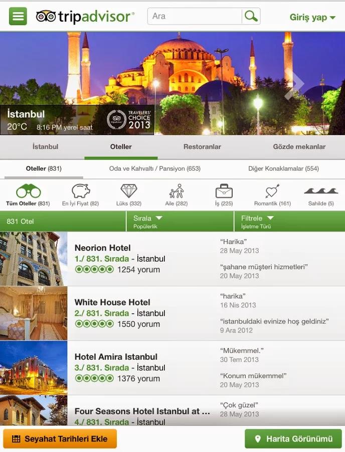 Android TripAdvisor Apk resimi 1