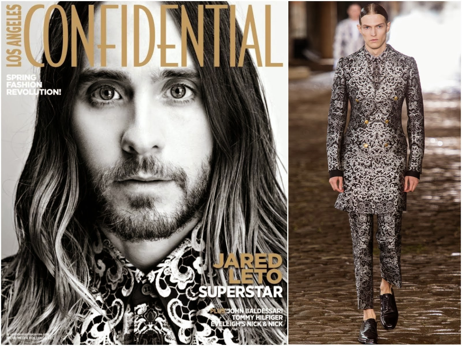 Jared Leto in Alexander McQueen - Los Angeles Confidential Magazine