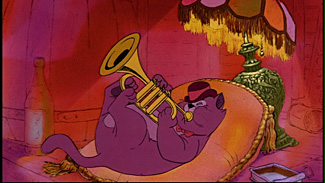 Scat Cat in O'Malley's pad The Aristocats 1970 animatedfilmreviews.filminspector.com