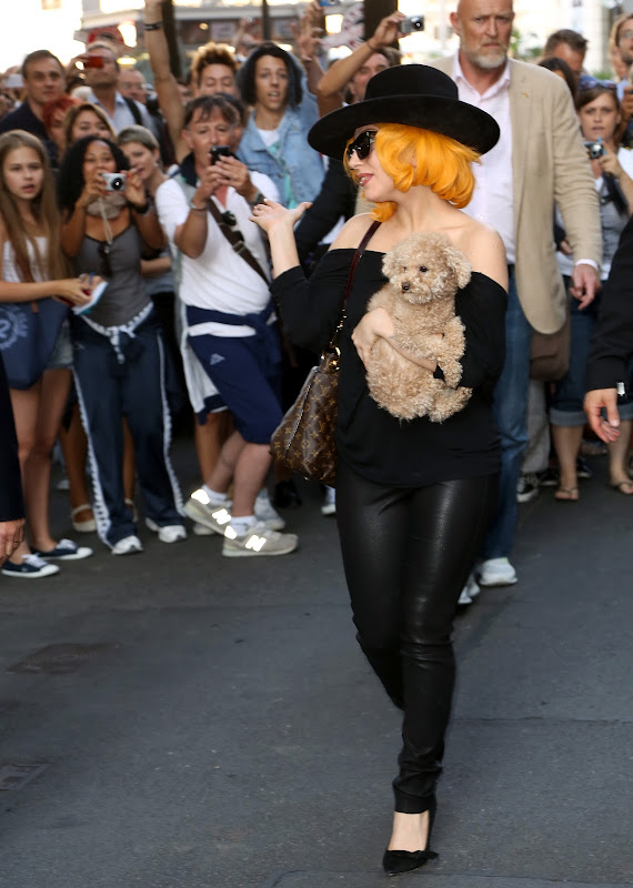 Lady Gaga with her adorable pup Fozzi