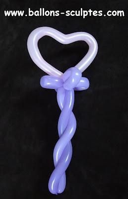 baguette de princesse coeur en ballons
