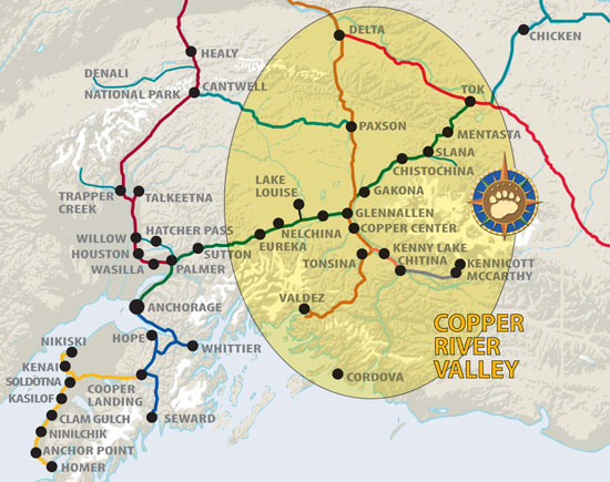Maps of Alaska Roads By Bearfoot Guides: Map Of The Copper River