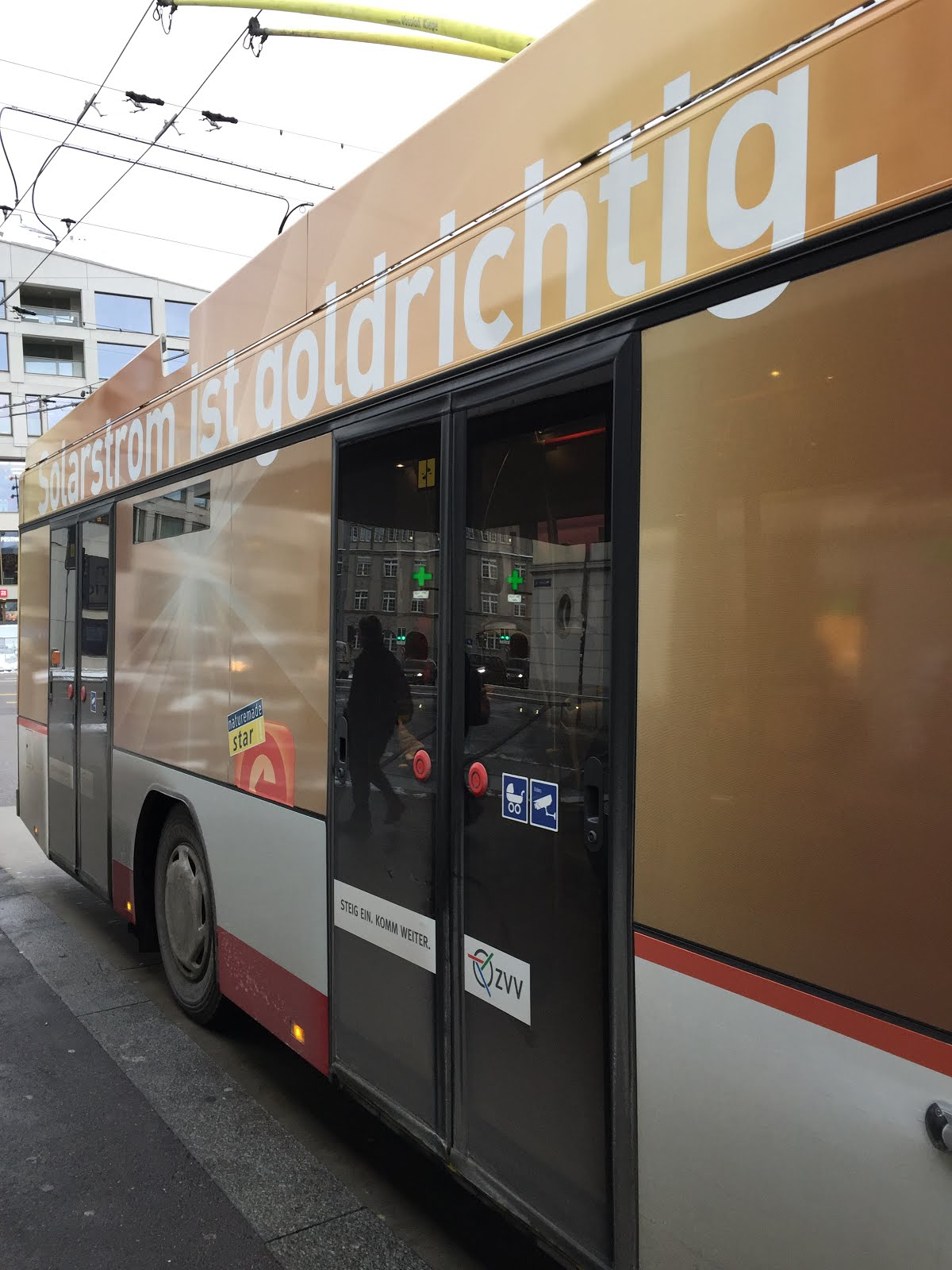 Der Solarbus in Winterthur