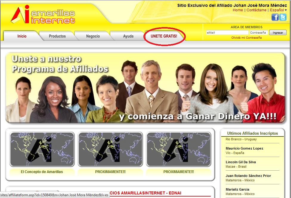 Dolares amarillos for Mi oficina virtual