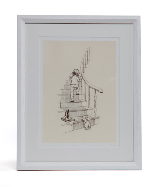 Belle & Boo | Children's Wall Art | Up the stairs we go